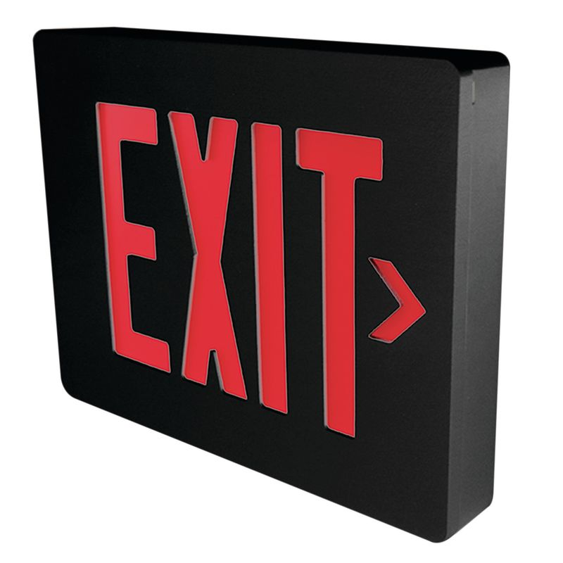 Dual-Lite SESRBNE Red LED Wall / Ceiling Mount Emergency Exit Sign -