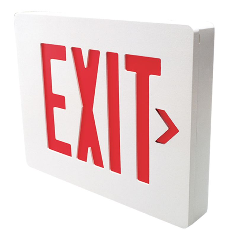 Dual-Lite SESRWE Red LED Wall / Ceiling Mount Emergency Exit Sign -