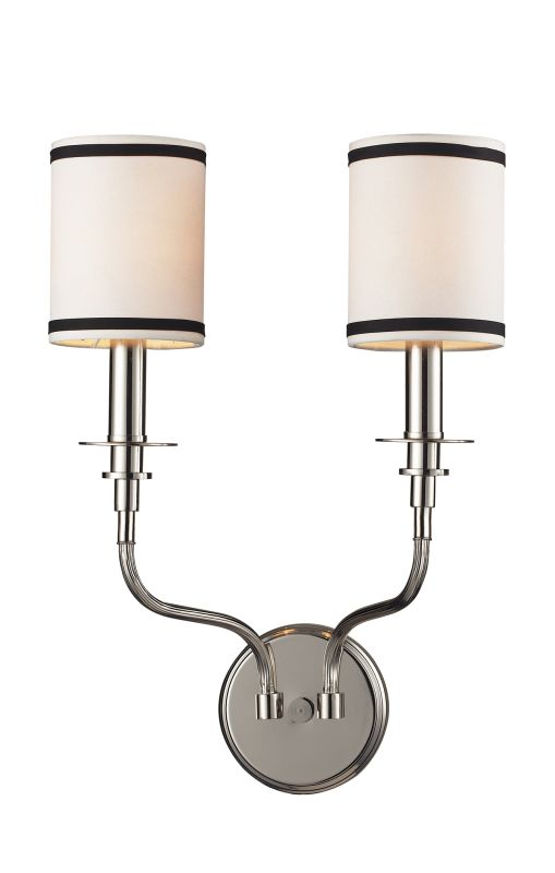 ELK Lighting 1620/2 Tribeca 2 Light Wall Sconce Polished Nickel Indoor Sale $180.00 ITEM: bci574259 ID#:1620/2 UPC: 748119162027 :