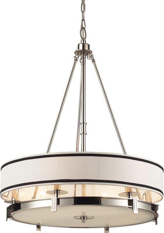 ELK Lighting 1624/6 Tribeca 6 Light Large Pendant Polished Nickel