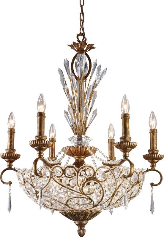 ELK Lighting 2404 Segovia 12 Light 2 Tier Crystal Chandelier Spanish