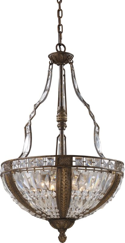"ELK Lighting 2495/6 Millwood 6 Light 19"" Wide Crystal Pendant with"
