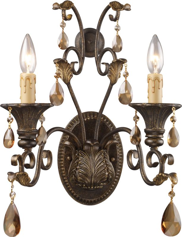 ELK Lighting 3341/2 Rochelle 2 Light Wall Sconce Weathered Mahogany