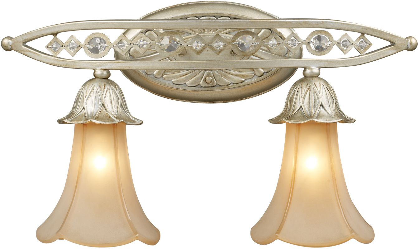 ELK Lighting 3820/2 Chelsea 2 Light Wall Sconce Aged Silver Indoor