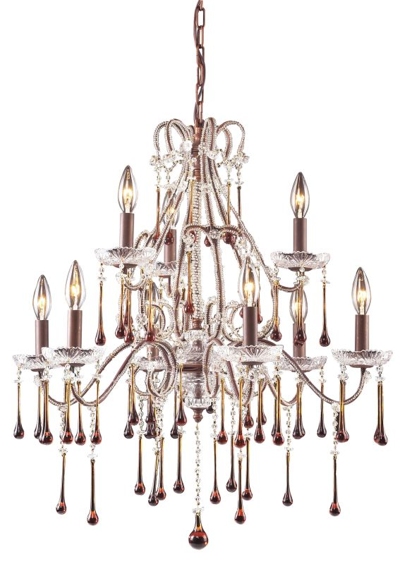 ELK Lighting 4013/6+3 Crystal 2 Tier 9 Light Up Lighting Chandelier Sale $868.00 ITEM: bci73533 ID#:4013/6+3AMB UPC: 748119012513 :