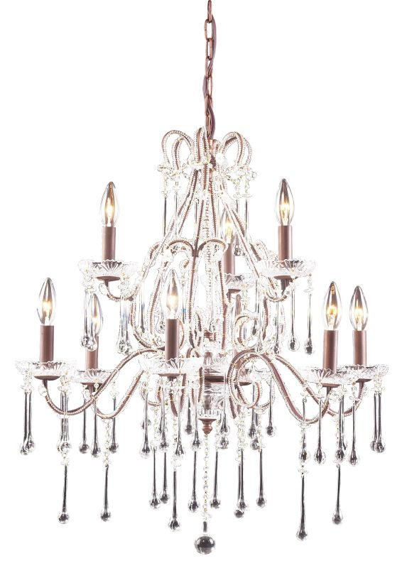ELK Lighting 4013/6+3 Crystal 2 Tier 9 Light Up Lighting Chandelier Sale $868.00 ITEM: bci73535 ID#:4013/6+3CL UPC: 748119401331 :