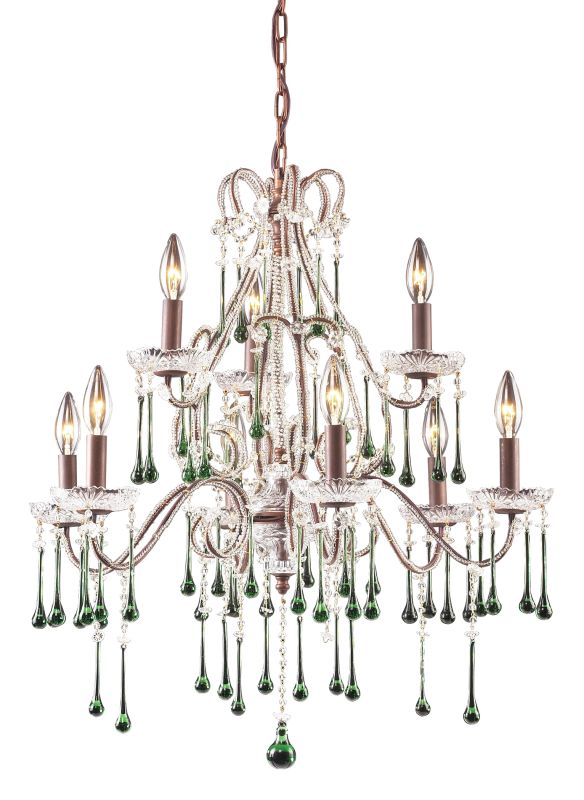 ELK Lighting 4013/6+3 Crystal 2 Tier 9 Light Up Lighting Chandelier Sale $868.00 ITEM: bci73536 ID#:4013/6+3LM UPC: 748119401355 :