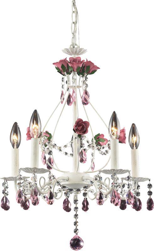 ELK Lighting 4054/5 Rosavita 5 Light 1 Tier Mini Crystal Chandelier