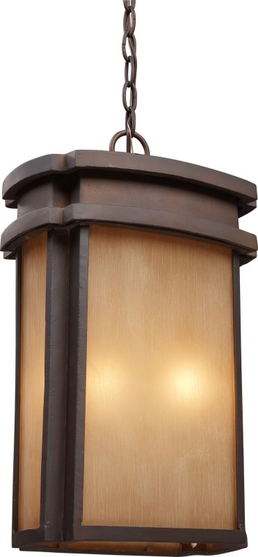 ELK Lighting 42143/2 Sedona 2 Light Full Sized Outdoor Pendant Clay