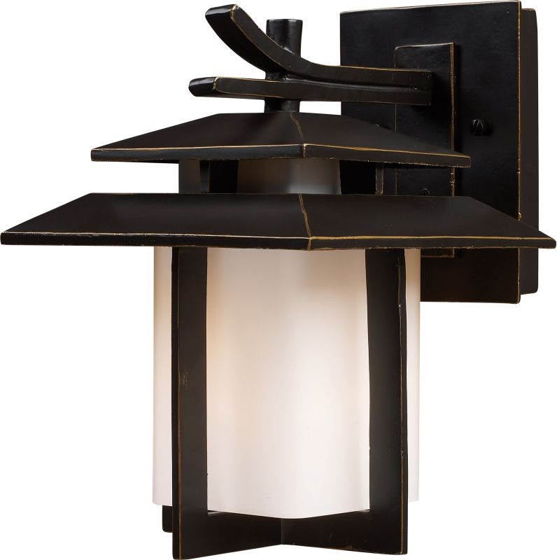 ELK Lighting 42170/1 Kanso 1 Light Outdoor Wall Sconce Hazelnut Bronze Sale $188.00 ITEM: bci574521 ID#:42170/1 UPC: 748119421704 :