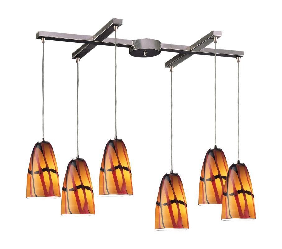 ELK Lighting 541-6 Fuego 6 Light Full Sized Pendant Jasper Indoor