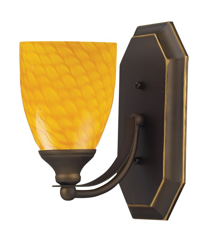 ELK Lighting 570-1B Vanity Collection 1 Light 10&quote Bathroom Sconce with