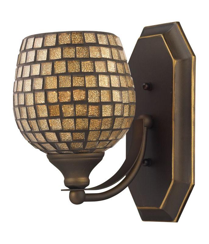 "ELK Lighting 570-1B Vanity Collection 1 Light 10"" Bathroom Sconce with Sale $90.00 ITEM: bci731458 ID#:570-1B-GLD UPC: 748119007724 :"
