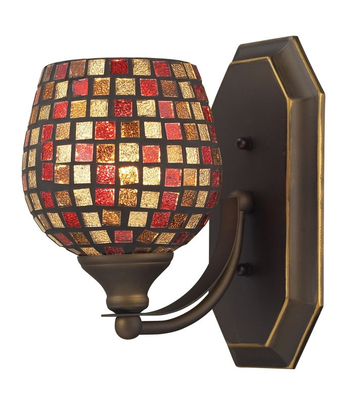 "ELK Lighting 570-1B Vanity Collection 1 Light 10"" Bathroom Sconce with Sale $90.00 ITEM: bci731461 ID#:570-1B-MLT UPC: 748119007748 :"