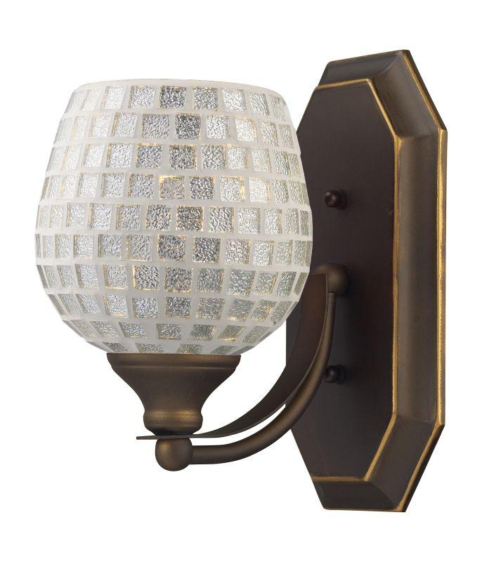 "ELK Lighting 570-1B Vanity Collection 1 Light 10"" Bathroom Sconce with Sale $90.00 ITEM: bci731464 ID#:570-1B-SLV UPC: 748119007786 :"