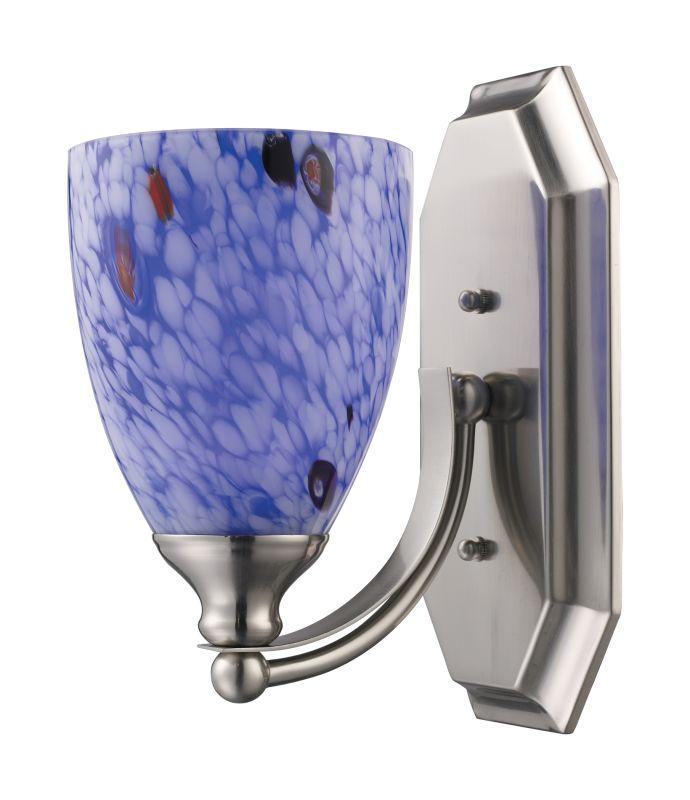 "ELK Lighting 570-1N Vanity Collection 1 Light 10"" Bathroom Sconce with Sale $90.00 ITEM: bci731511 ID#:570-1N-BL UPC: 748119008080 :"