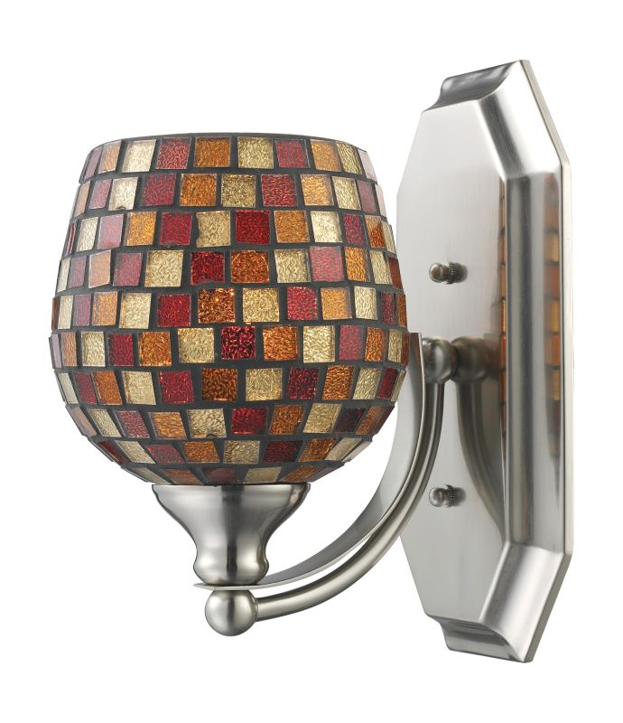 "ELK Lighting 570-1N Vanity Collection 1 Light 10"" Bathroom Sconce with"