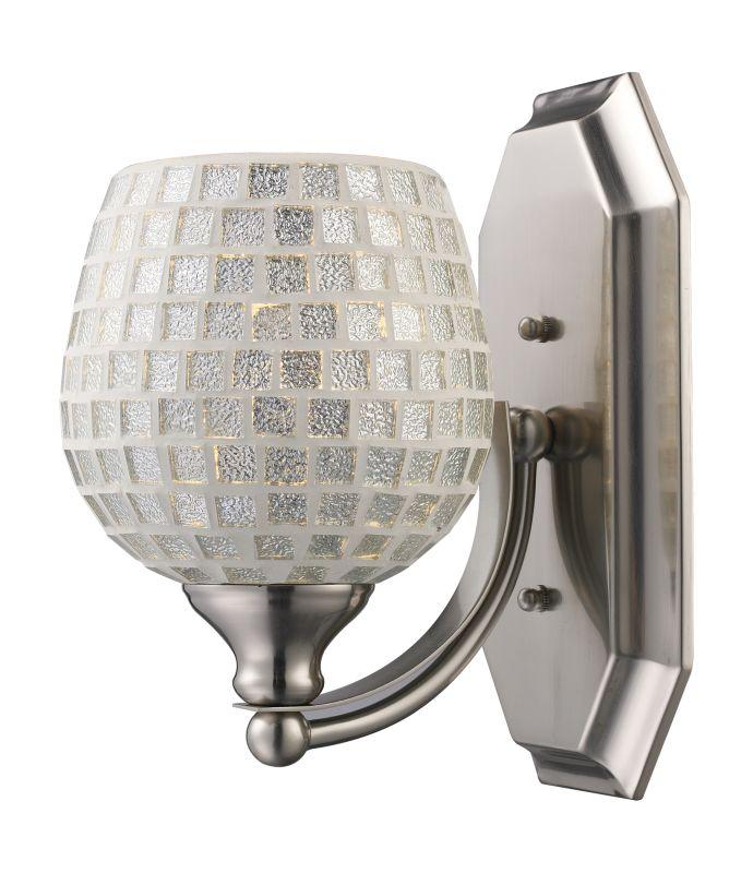 "ELK Lighting 570-1N Vanity Collection 1 Light 10"" Bathroom Sconce with Sale $90.00 ITEM: bci731508 ID#:570-1N-SLV UPC: 748119008233 :"