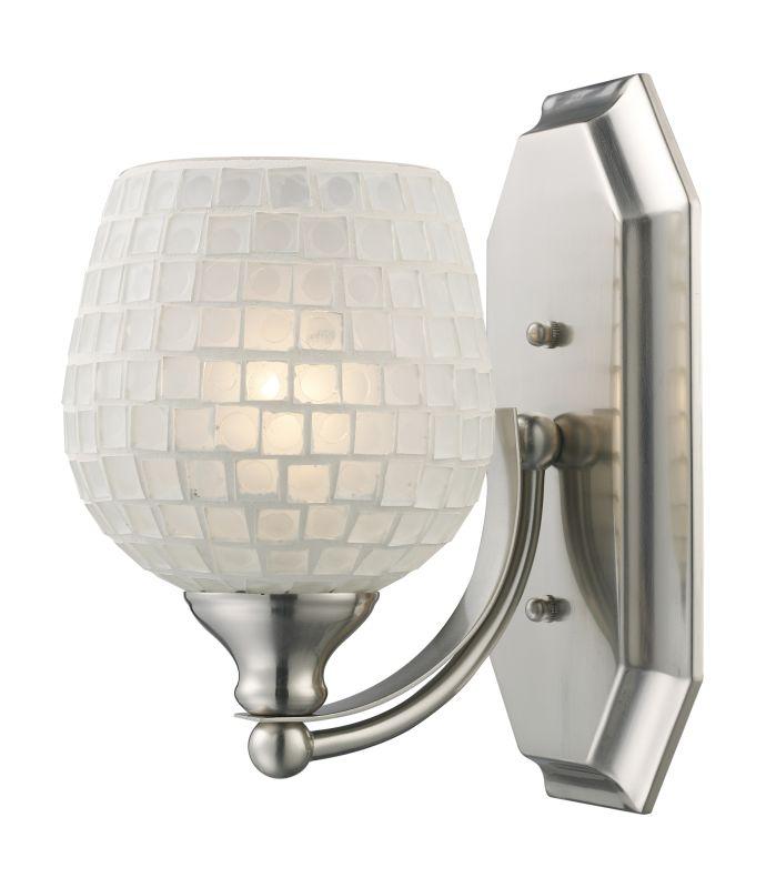 "ELK Lighting 570-1N Vanity Collection 1 Light 10"" Bathroom Sconce with Sale $90.00 ITEM: bci731512 ID#:570-1N-WHT UPC: 748119008264 :"