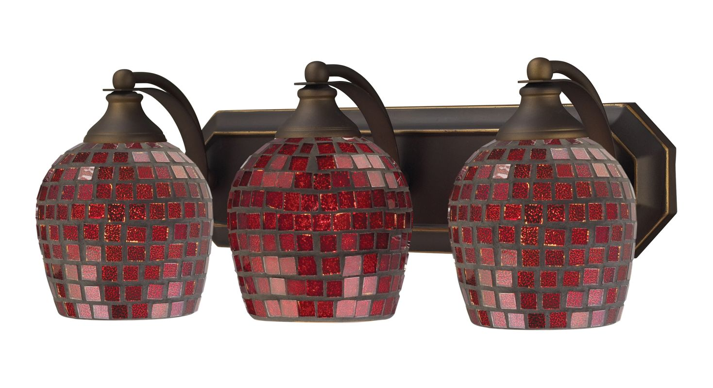 "ELK Lighting 570-3B 3 Light 20"" Fixture with Colorful Shades from the"