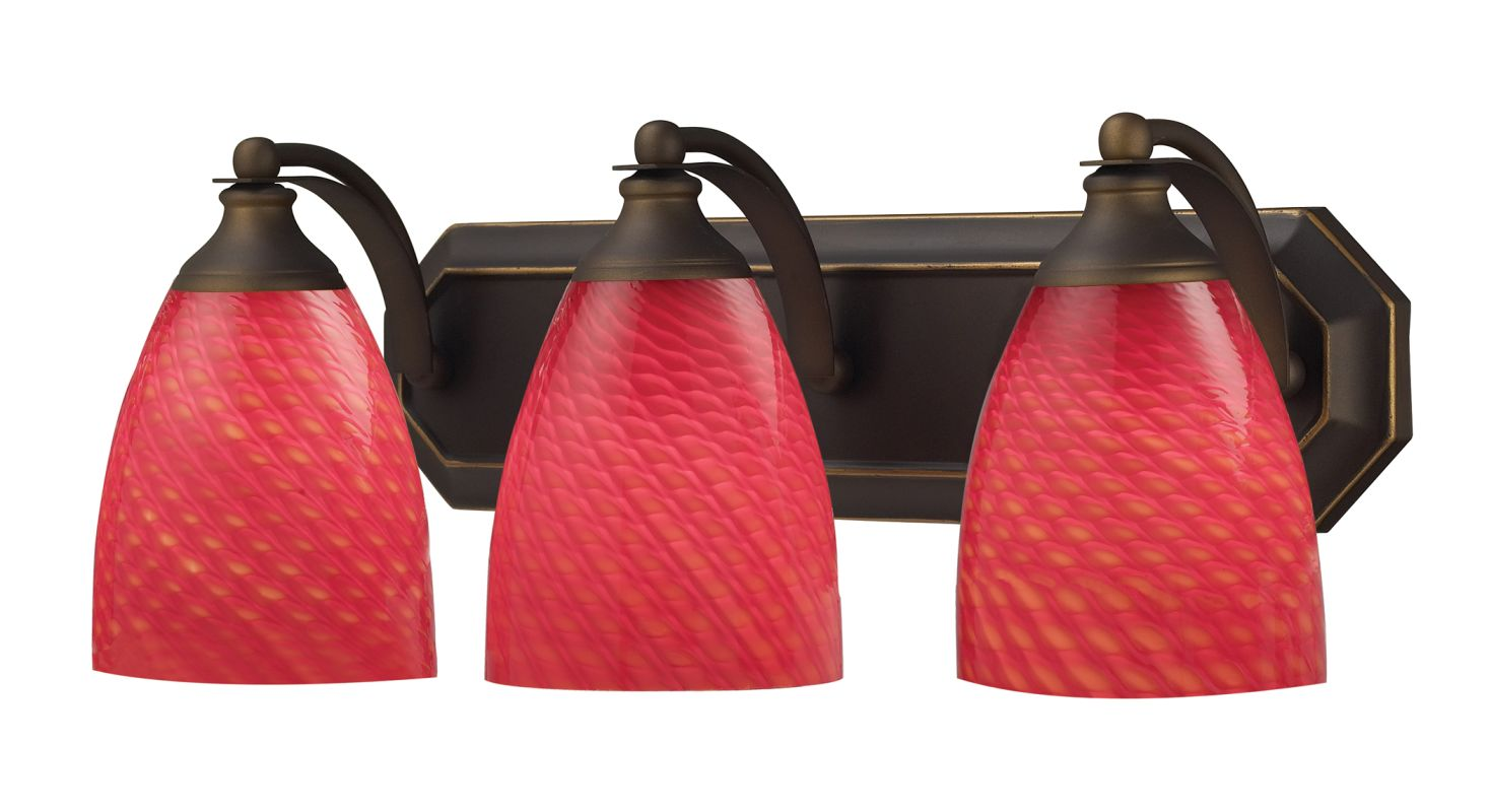 """ELK Lighting 570-3B 3 Light 20"""" Fixture with Colorful Shades from the"""
