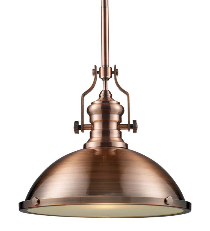 ELK Lighting 66148-1 Antique Copper Industrial Chadwick Pendant