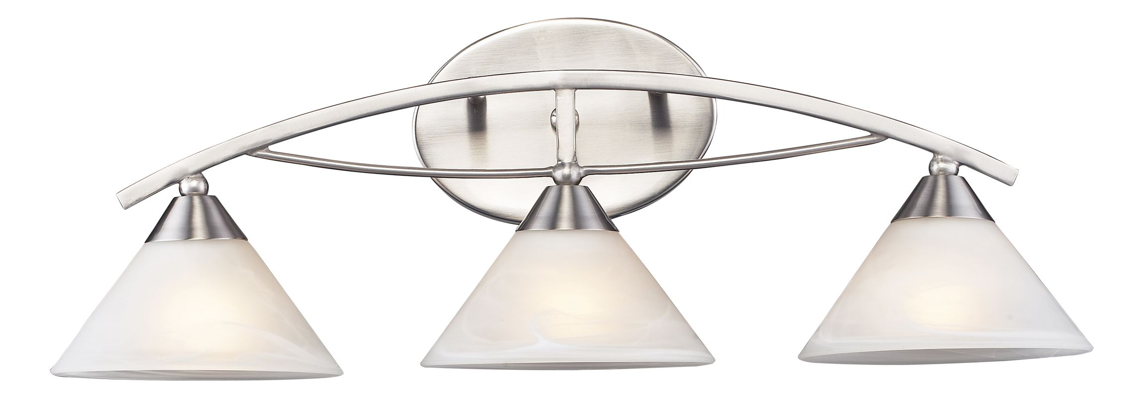 ELK Lighting 7632/3 Elysburg 3 Light Wall Sconce Satin Nickel Indoor