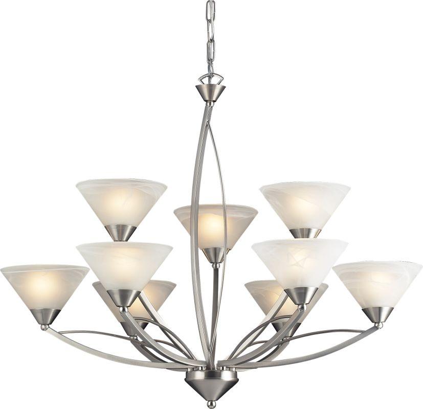 ELK Lighting 7638/6+3 9 Light Up Lighting Chandelier from the Elysburg Sale $506.00 ITEM: bci574709 ID#:7638/6+3 UPC: 748119763866 :
