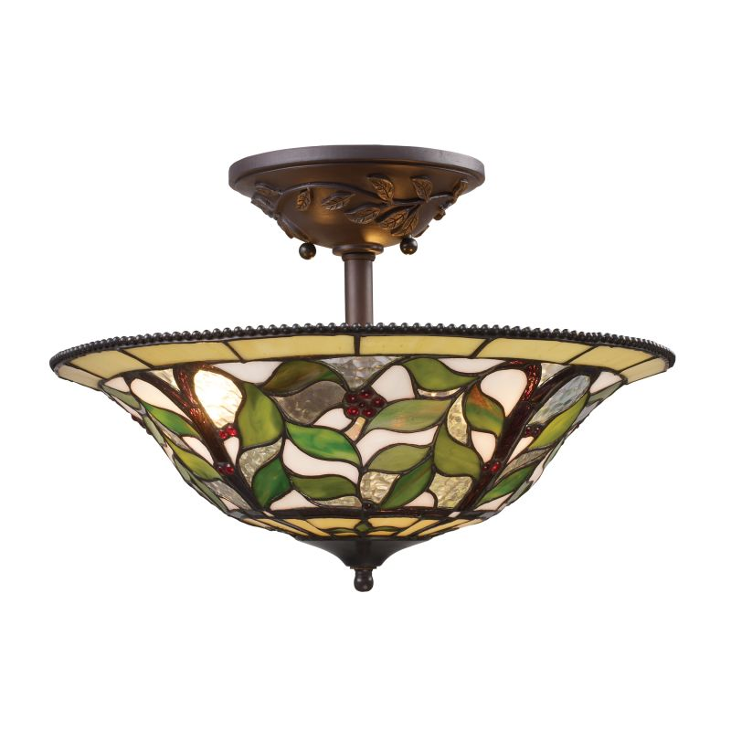 ELK Lighting 08015 Latham Three-Light Semi-Flush Ceiling Fixture