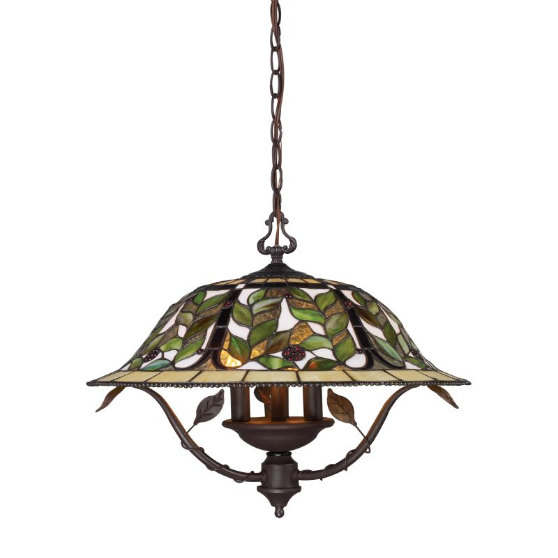 ELK Lighting 08016 Latham Three-Light Large Pendant Tiffany Bronze