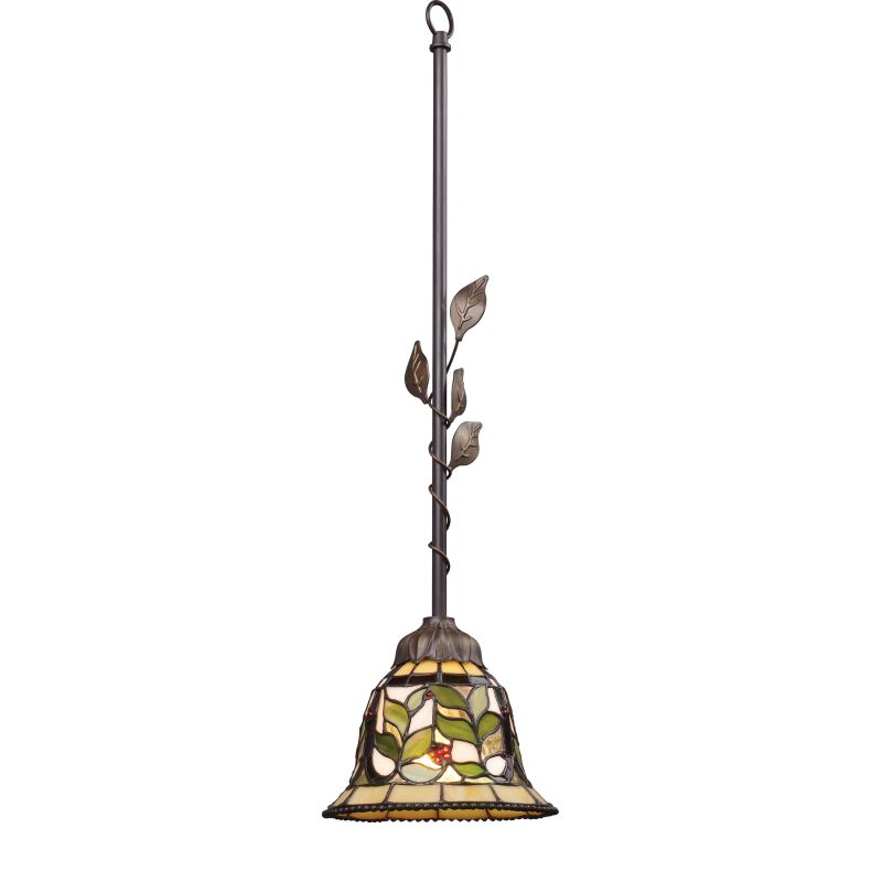 "ELK Lighting 08018 Latham Single Light 7"" Wide Mini Pendant with Round"
