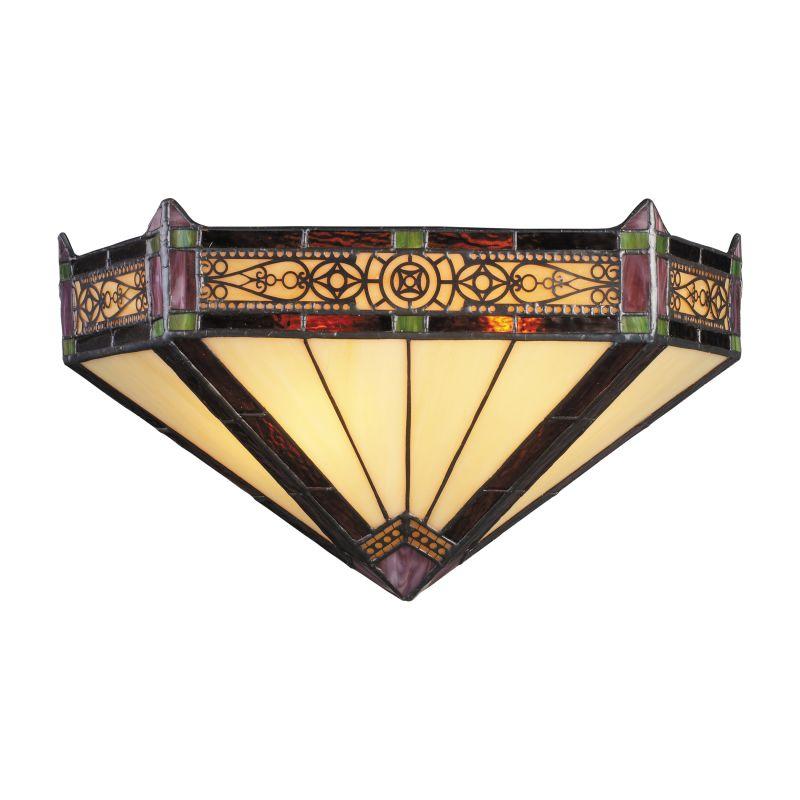 ELK Lighting 08030 Filigree Two-Light Wall Washer Sconce Aged Bronze