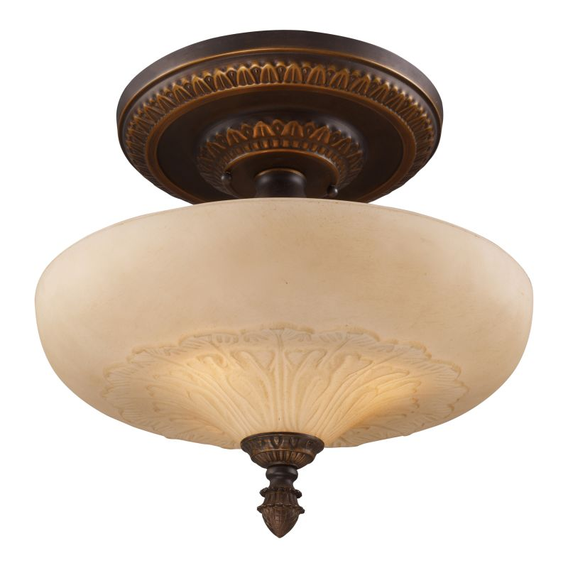 ELK Lighting 08094 Restoration Three-Light Semi-Flush Ceiling Fixture