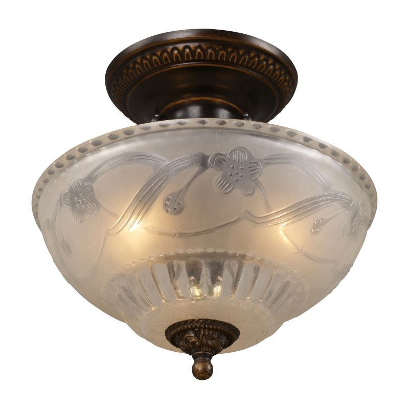 ELK Lighting 08098 Restoration Three-Light Semi-Flush Ceiling Fixture