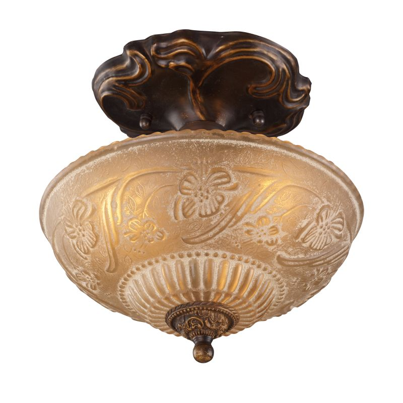 ELK Lighting 08103 Restoration Three-Light Semi-Flush Ceiling Fixture