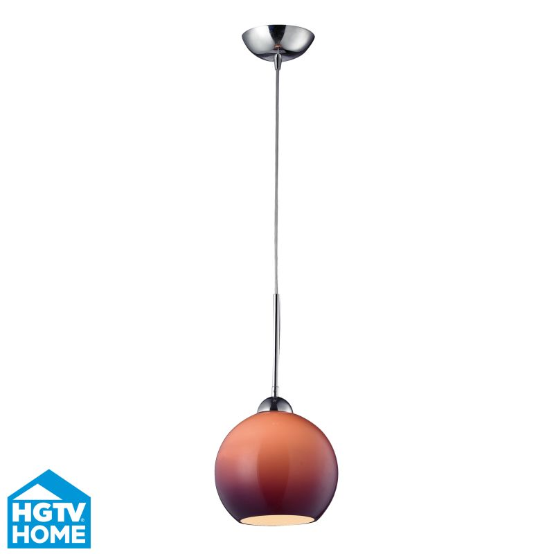 ELK Lighting 10240/1PUR HGTV Home Cassandra Single-Light Mini Pendant Sale $125.00 ITEM: bci2163603 ID#:10240/1PUR UPC: 748119039091 :