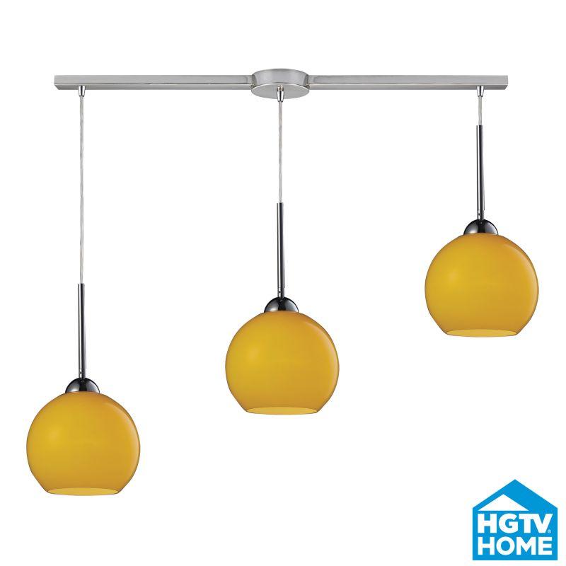 ELK Lighting 10240/3L-LEM HGTV Home Cassandra Three-Light Linear Mini