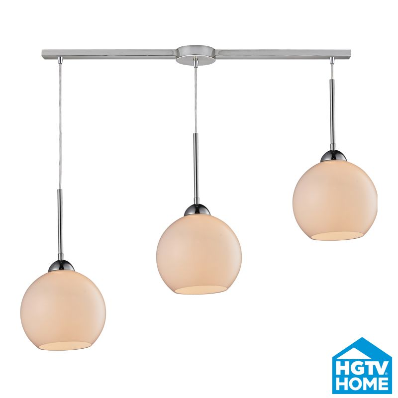 ELK Lighting 10240/3L-WH HGTV Home Cassandra Three-Light Linear Mini