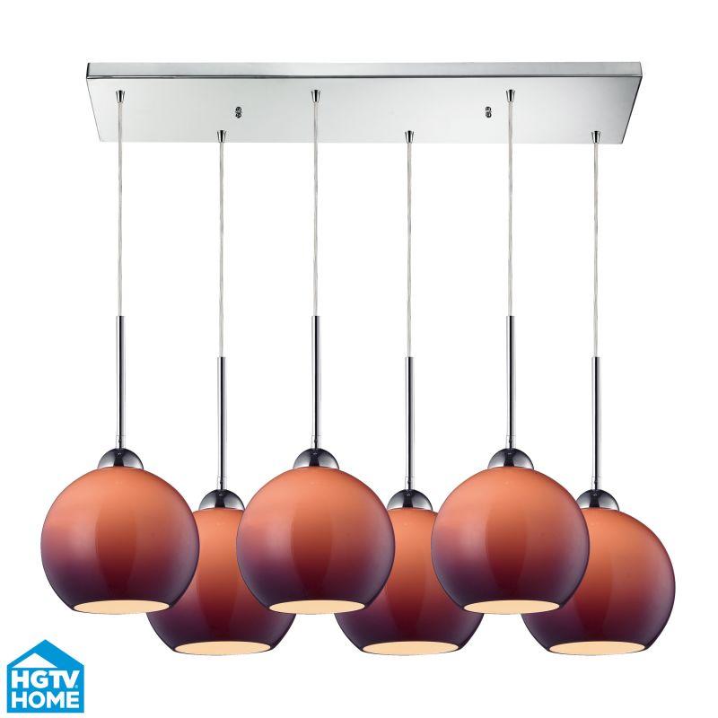 ELK Lighting 10240/6RC-PUR HGTV Home Cassandra Six-Light Mini Pendant