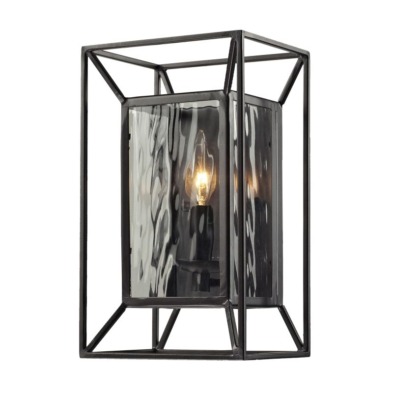 "ELK Lighting 14120/1 Cubix Collection 1 Light 12"" Wall Sconce Oiled"