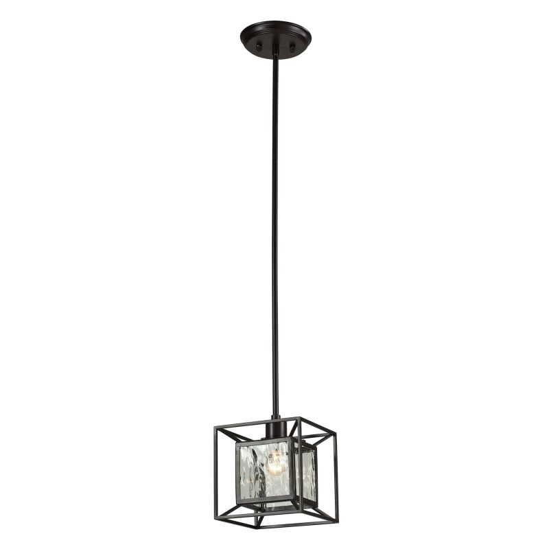 "ELK Lighting 14121/1 Cubix Collection 1 Light 8"" Pendant with Glass"