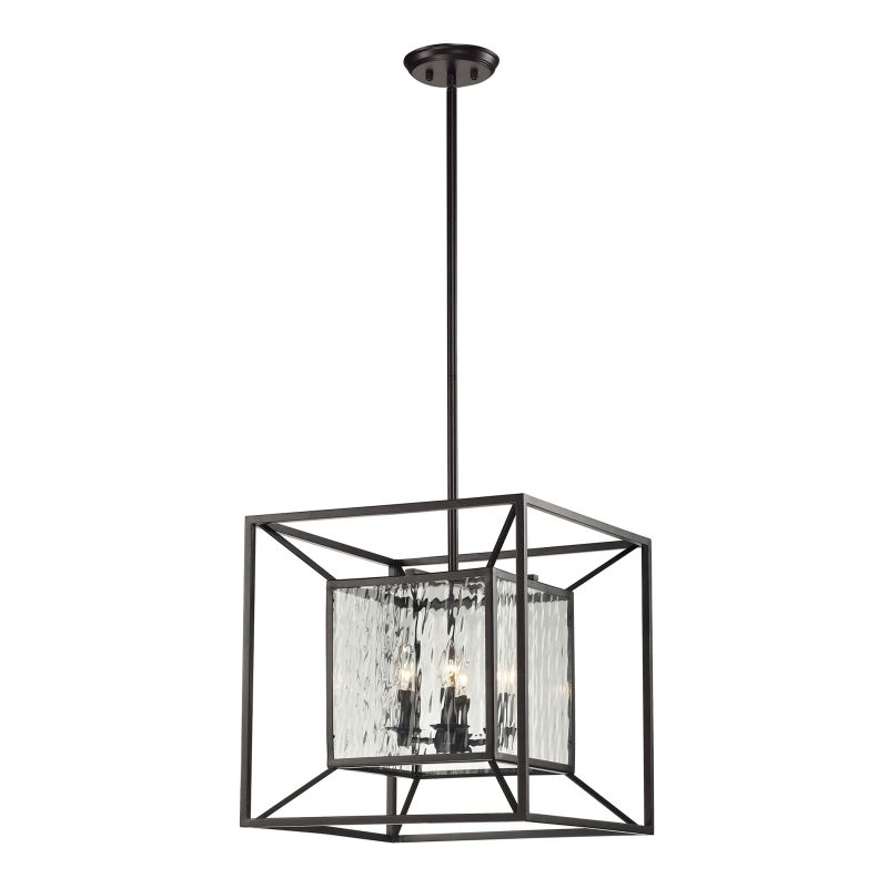 "ELK Lighting 14122/4 Cubix Collection 4 Light 18"" Lantern Pendant with"