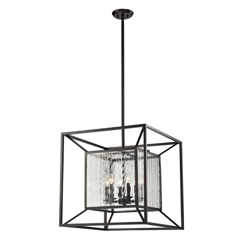 "ELK Lighting 14123/6 Cubix Collection 6 Light 24"" Lantern Pendant with"
