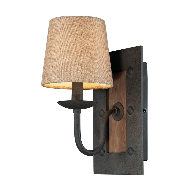 "ELK Lighting 14130/1 Early American Collection 1 Light 12"" Wall Sconce"