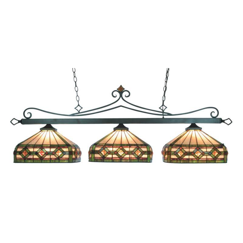 ELK Lighting 190-11-TB-T8 Tiffany Bronze Billiard Three