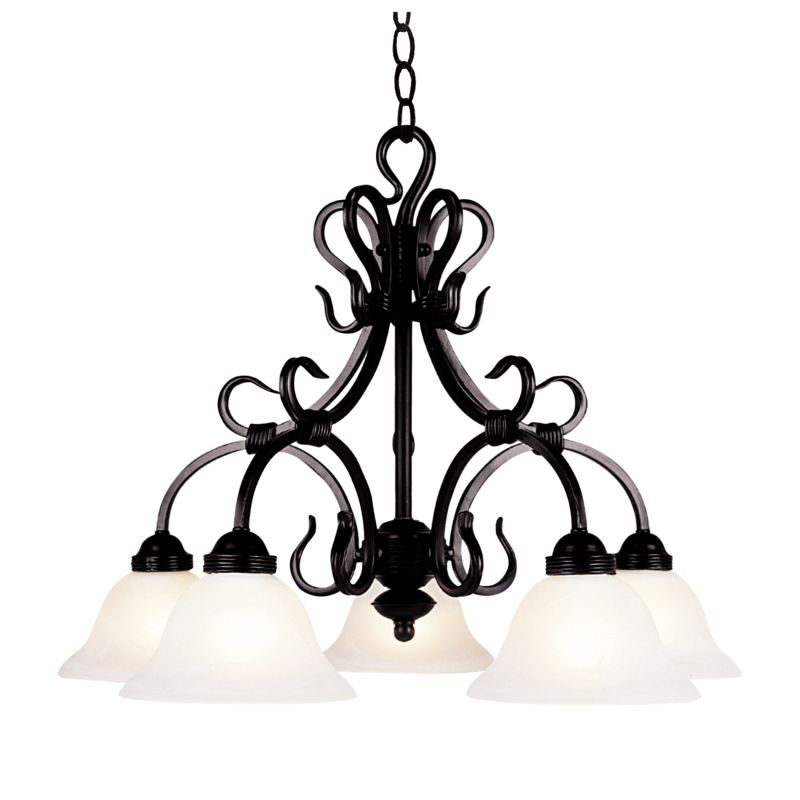 ELK Lighting 245 Buckingham Five-Light Chandelier Matte Black Indoor