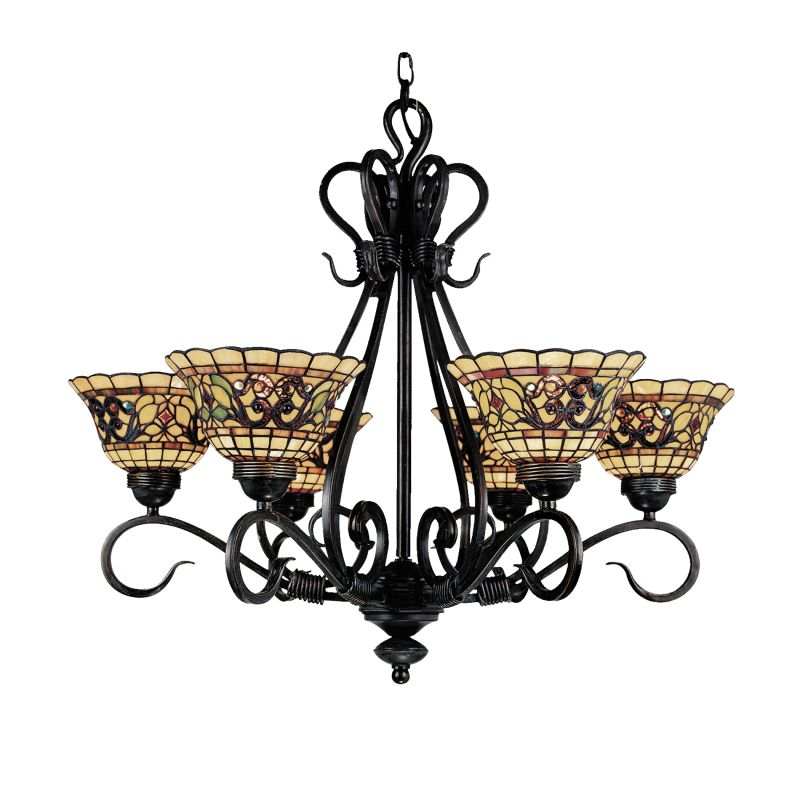 ELK Lighting 366 Buckingham Six-Light Chandelier Vintage Antique Sale $986.00 ITEM: bci2220986 ID#:366-VA UPC: 830335004066 :