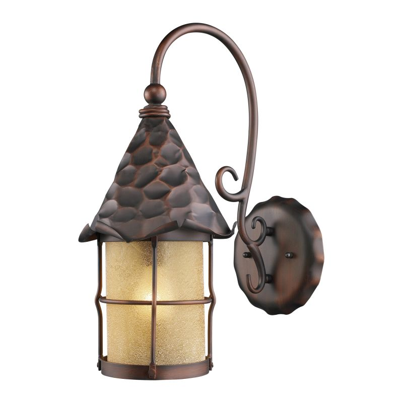 ELK Lighting 385 Rustica Single-Light Outdoor Wall Sconce Antique