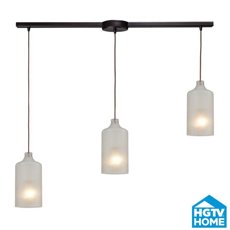 ELK Lighting 46006/3L HGTV Home Skylar Three-Light Linear Mini Pendant