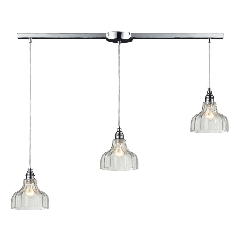 "ELK Lighting 46018/3L Danica 3 Light 36"" Wide Linear Pendant with"